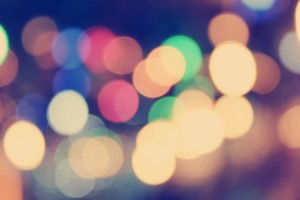 Lumière floue dans la nuit