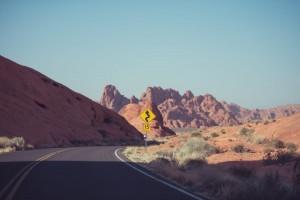 Panneau sur route américaine