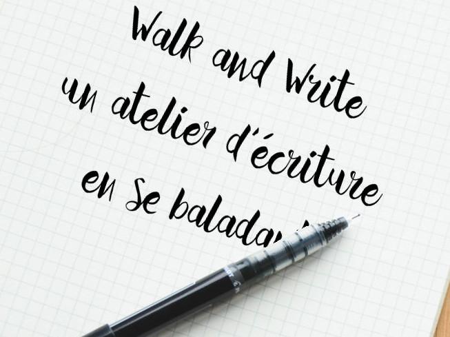 Walk and Write, un atelier d'écriture en se baladant