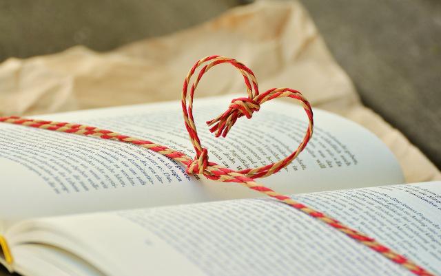 Un coeur dans un livre...