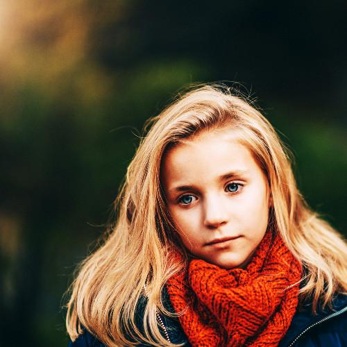 Jeune fille découragée
